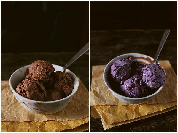 巧克力冰淇淋的做法_蓝莓冰淇淋怎么做【鲁不猴】